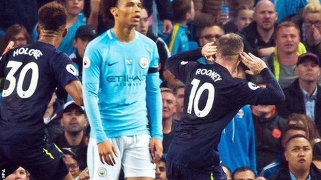 Rooney vs City, Everton
