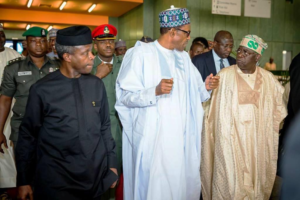 Tinubu, Osinbajo, Buhari