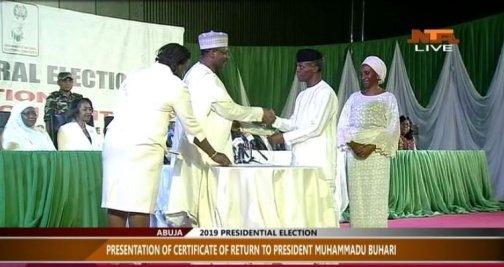 Certificate of Return, INEC, Buhari, Osinbajo