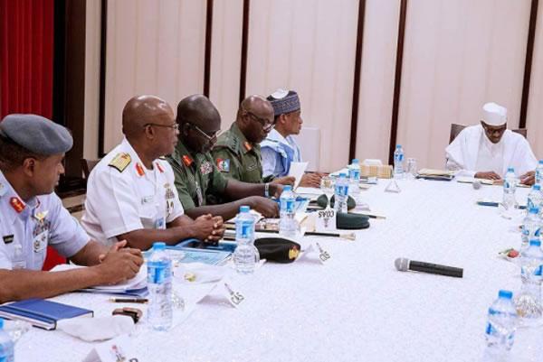 Buhari, service-chiefs, Senate,