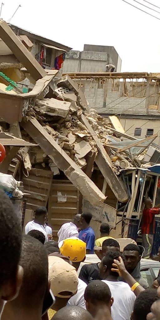 Anambra, Shopping Plaza, Collapsed building, Gbagada,