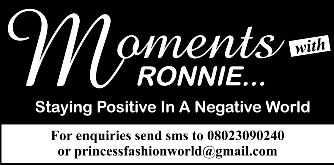 Moments With Ronnie, Positive Vibes,