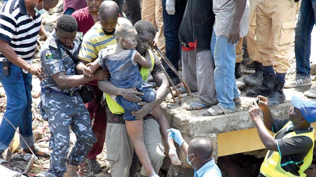 building collapse, Baden School, Ita Faaji, Lagos Island,