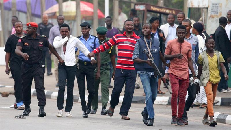 FUOYE, Protest, Police, Mrs Fayemi,