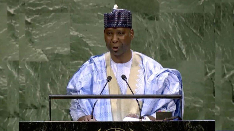 UN President, Mohammed Bande,