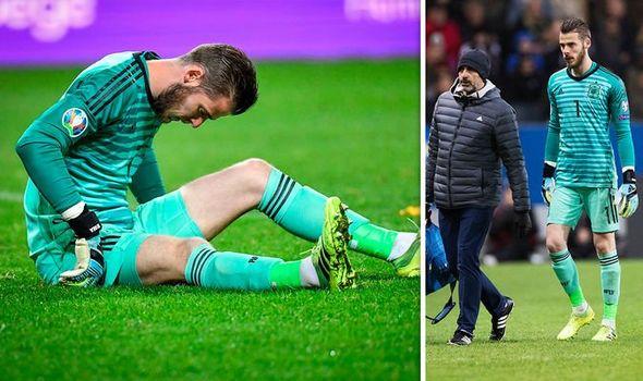 David de Gea, injury, Manchester United,