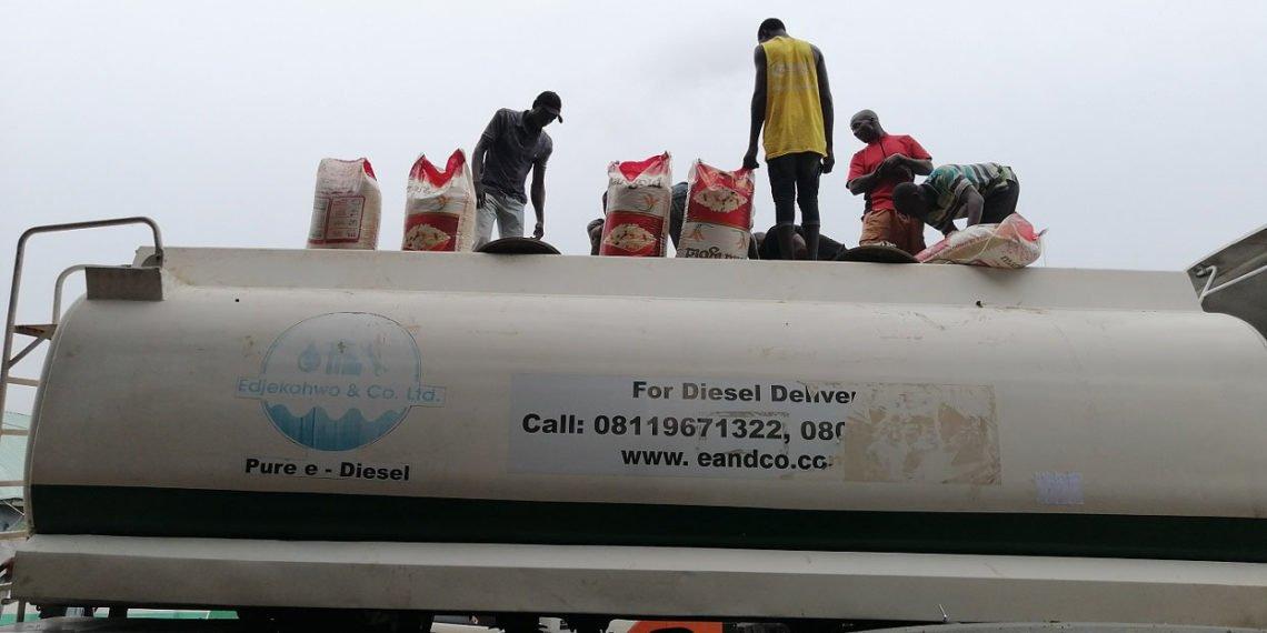 tanker, Customs, Smuggled Rice,