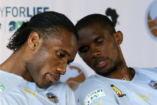 Samuel Etio'o , Didier Drogba,